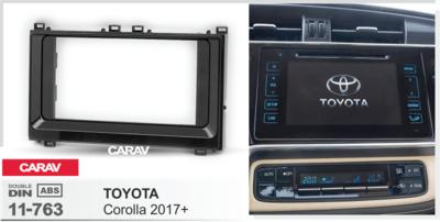 Carav Рамка TOYOTA Corolla 2017+ (CARAV 11-763) (фото, вид 1)