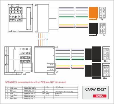 Carav ISO-переходник RENAULT 2009+ (выборочн. модели, только для а/м с разъемом Quadlock) (CARAV 12-227) (фото, вид 1)