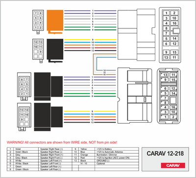 Carav ISO-переходник NISSAN 1999+ (выборочн. модели) (CARAV 12-218) (фото, вид 1)