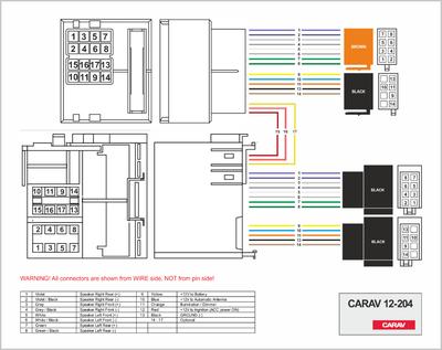 Carav ISO-переходник BMW 2000+ / LAND ROVER 2001+ / ROVER 2001+ / MINI 2003+ (выборочн. модели) (CARAV 12-204) (фото, вид 1)