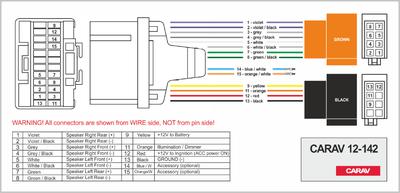 Carav ISO-переходник CHEVROLET 2000-2010 / BUICK 2004-2009 / GMS 2001-2009 / PONTIAC 2001-2008 / OLDSMOBILE 2001-2004 (выборочн. модели) / HUMMER H3 2006-2010 / SUZUKI Vitara 1999-2004 (CARAV 12-142) (фото, вид 3)