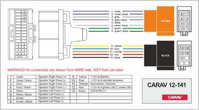 Carav ISO-переходник BUICK 1995-2004 / CADILLAC 1992-2001 / OLDSMOBILE 1994-2002 (выборочн. модели) (CARAV 12-141) (фото, вид 3)