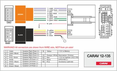 Carav ISO-переходник FORD Fusion 2002-2005, Fiesta 2003-2005 / LAND ROVER Freelander 2005+ (CARAV 12-135) (фото, вид 3)