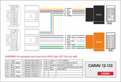 Carav ISO-переходник HYUNDAI 2009+ / KIA 2010+ (выборочн. модели) (CARAV 12-133) (фото, вид 3)