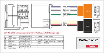 Carav ISO-переходник RENAULT 2009+ (выборочн. модели, только для а/м с разъемом Quadlock) (CARAV 12-127) (фото, вид 3)