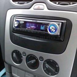 Incar (Intro) Переходная рамка Ford Focus 2 sony, S-Max 07+, Mondeo 07+, Galaxy new 1DIN black (Incar RFO-N11). Вид 2