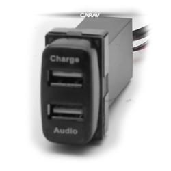 Carav USB разъем в штатную заглушку TOYOTA new (2 порта: аудио + зарядное устройство) (CARAV 17-104). Вид 2