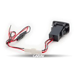 Carav USB разъем в штатную заглушку HONDA (1 порт: цифровой вольтметр) (CARAV 17-305). Вид 2