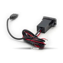 Carav USB разъем в штатную заглушку SUZUKI (2 порта: аудио + зарядное устройство) (CARAV 17-108). Вид 2