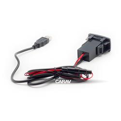 Carav USB разъем в штатную заглушку HONDA (2 порта: аудио + зарядное устройство) (CARAV 17-105). Вид 2