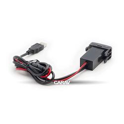 Carav USB разъем в штатную заглушку TOYOTA (2 порта: аудио + зарядное устройство) (CARAV 17-103). Вид 2