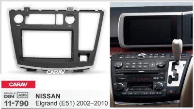 Carav Carav 11-790 | 2DIN переходная рамка Nissan Elgrand 2002-2010