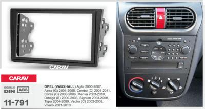 Carav Carav 11-791 | 2DIN переходная рамка Opel (VAUXHALL) все модели