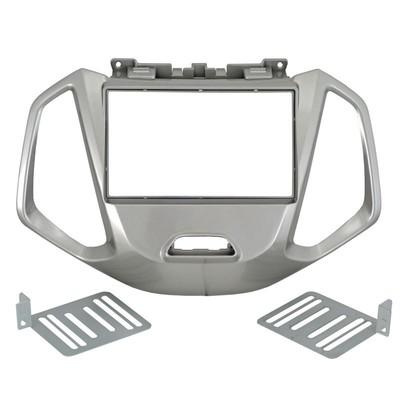 Incar (Intro) Переходная рамка Ford Ecosport 17+ 2DIN (крепеж) SILVER (Incar RFO-N33) (фото)