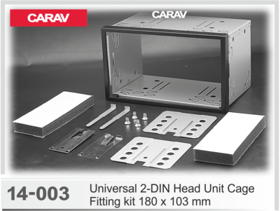 Carav Универсальная корзина для крепления 2-DIN магнитолы (180 x 103 mm) (CARAV 14-003) (фото)