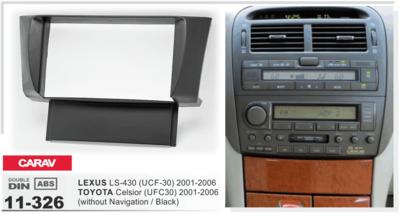 Carav Рамка TOYOTA Celsior (UFC30) 2001-2006 / LEXUS LS-430 (UCF-30) 2001-2006 (только для а/м без навигации) (CARAV 11-326) (фото)