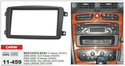 Carav Рамка MERCEDES-BENZ C-klasse (W203) 2000-2004; CLK-klasse (W209) 2002-2005; Viano (W639) 2003-2008; Vito (W639) 2003-2006 (CARAV 11-459) (фото)