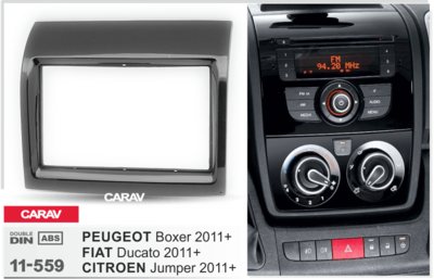Carav Carav 11-559 | 2DIN переходная рамка Peugeot Boxer 2006+, Fiat Ducato 2006+,Citroen Jumper 2006+ (фото)