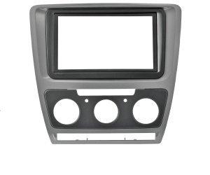 Incar (Intro) Рамка Skoda Octavia (A5) 04-13 (Manual AC) 2din SILVER (КОМПЛЕКТ) Incar RSC-N07 (фото)