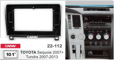 "Carav Carav 22-112 | 10.1"" переходная рамка Toyota Tundra 2007-2013, Sequoia 2007+ (фото)"