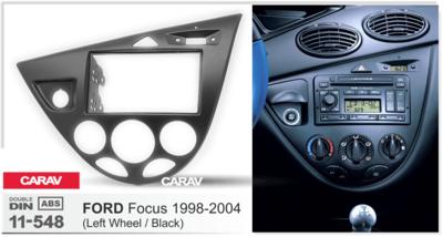 Carav Carav 11-548 | 2DIN переходная рамка Ford Focus 1998-2004 (левый руль) (фото)