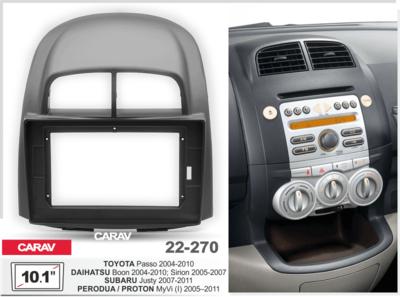 "Carav Carav 22-270 | 10.1"" переходная рамка Subaru Justy 2007-2011, Toyota Passo 2004-2010"