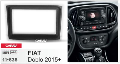 Carav Carav 11-636 | 2DIN переходная рамка Fiat Doblo 2015+ (фото)