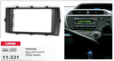 Carav Рамка TOYOTA Aqua 2012-2014 (руль справа) (CARAV 11-331) (фото)