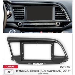"Carav Carav 22-975   9"" переходная рамка Hyundai Elantra (AD), Avante (AD) 2018+"