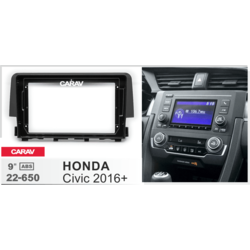 "Carav Carav 22-650   9"" переходная рамка Honda Civic 2016+"