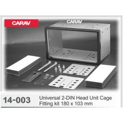Carav Универсальная корзина для крепления 2-DIN магнитолы (180 x 103 mm) (CARAV 14-003)