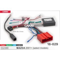 Carav Carav 16-029   разъем 16-pin Mazda 2001+ выборочн. модели (Питание + Динамики + USB + CANBUS)